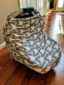 Nursing Cover turned Carseat Cover