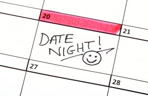 Date Night Written on a Calendar becuase It is Important